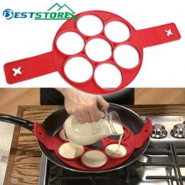 Pancake Maker jajka pierścień ekspres Nonstick łatwe fantastyczne jajko omlet formy gadżety kuchenne narzędzia kuchenne silikono