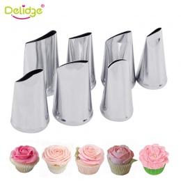 Delidge 7 sztuk/zestaw ciasto końcówki ozdabiające zestaw krem oblodzenie rurociągi Sugarcraft róża dysza ciasto narzędzia kremó