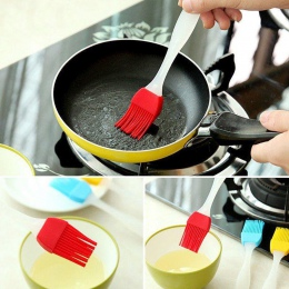 Ciasto do pieczenia na oleju grill Basting pędzel silikonowe do pieczenia pieczenia chleba szczotki do kolor losowo