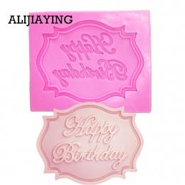 M0070 kartka urodzinowa formy silikonowe formy fondant czekoladowy narzędzie do dekoracji ciast narzędzia ciastko formy