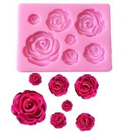 1 PC różowe kwiaty w kształcie kremówki silikonowe formy Craft czekoladowe formy do pieczenia ciasto dekorowanie narzędzia kuche