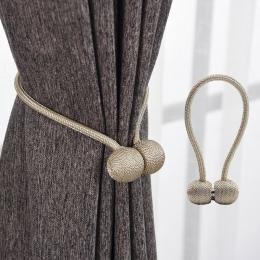 Magnetyczne perła piłka do zasłon Tie Backs Holdbacks klamra klipy akcesoria Karnisze akcesoria