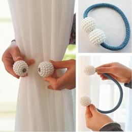 1 pc Pearl magnetyczne zasłony klip kurtyny posiadacze Tieback klamra klipy wiszące piłka klamra krawat powrót akcesoria do zasł