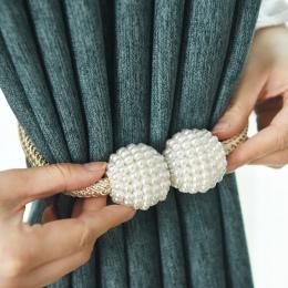 1x perła magnetyczne zasłony klip kurtyny posiadacze Tieback klamra klipy wiszące piłka klamra krawat powrót akcesoria do zasłon