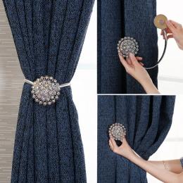 Kryształowa kurtyna pasy kreatywny europejskiej dekoracyjne kurtyna klamra darmowa cios hak hak ścienny pasek 1 sztuk