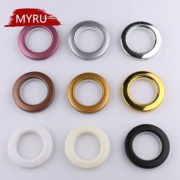 20/40/80 sztuk/partia wysokiej jakości dekoracji wnętrz akcesoria do zasłon dziewięć kolorów plastikowe obręcze oczka do zasłon