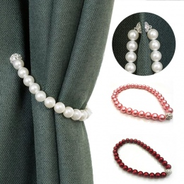 Nowoczesne proste kurtyna bandaż koreański styl ABS Pearl chwost dla zasłony z magnesem kurtyny dekoracyjne Accessories7A2537