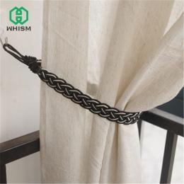 WHISM ręcznie tkane Twist zasłony Tieback kurtyny zasłony uchwyt frędzle zaciski pasek kurtyna akcesoria dekoracyjne