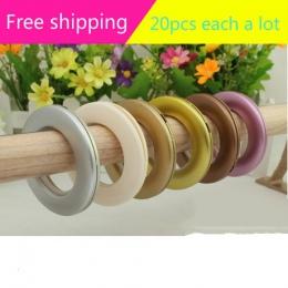 20 sztuk niski poziom hałasu kurtyna pierścień pierścień oczkowy do draperia średnica wewnętrzna 42mm 5 kolory