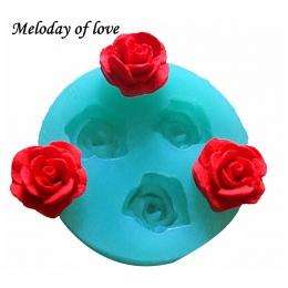 3D Rose kwiaty czekoladowe ciasto dekorowanie narzędzia 3D do pieczenia kremówka silikonowe formy używane do łatwego tworzenia w