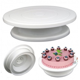 DIY Pan narzędzie do pieczenia ciasto z tworzywa sztucznego płyta gramofon obrotowe antypoślizgowe okrągłe ciasto stojak ciasto
