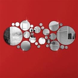26 sztuk Akrylowe DIY dekoracyjne naklejki ścienne lustro przyjazne dla środowiska wysokiej jakości salon sypialnia dekoracyjne