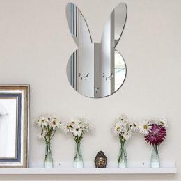 Lustro naklejki Home Decoration dla domowe naklejki Nordic drewna akrylowe lustro Cartoon ścienne aparat fotograficzny rekwizyty
