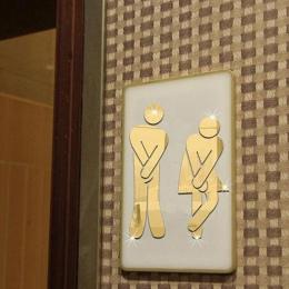 Wymienny mężczyzna kobieta wc naklejki DIY naklejki ścienne dekoracji lustro naklejki łazienka ubikacja dostaw