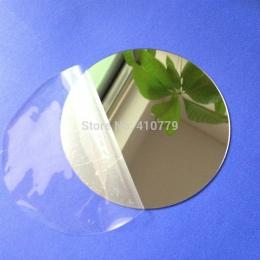 10 sztuk średnica 100x1mm akrylowe lustra ścienne okrągły arkusz naklejki z tworzywa sztucznego PMMA szkło Hotel dekoracyjne obi
