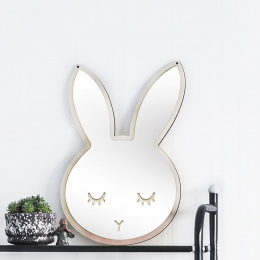 Dzieci Cartoon dekoracyjne lustro łazienka pokój dziecka królik Bowknot lustro ścienne ramka twórczej sztuki dekoracji domu