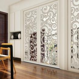 Akrylowe DIY dekoracyjne lustro naklejki ścienne przyjazne dla środowiska wysokiej jakości salon sypialnia dekoracyjne lustro