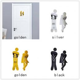 20X5 cm naklejki ścienne wymienny ładny mężczyzna kobieta toaleta drzwi toaleta WC naklejki rodzina DIY wystrój tapeta do domu d