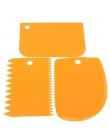 Hurtownie nowy 3 sztuk nieregularne zębów krawędzi DIY ciasto skrobak krem skrobak zestaw ciasto narzędzie do formowania Freeshi
