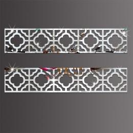 10 sztuk akrylowe listwy dekoracyjne lustro naklejki ścienne dla środowiska wysokiej jakości łazienka salon sypialnia listwy