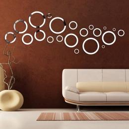 21 sztuk akrylowe dekoracyjne lustro naklejki ścienne przyjazne dla środowiska wysokiej jakości salon sypialnia łazienkowe lustr