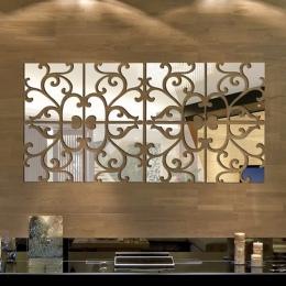 1 zestaw 3D lustro naklejki ścienne nowy rok wystrój domu akrylowe Mural duży lustro powierzchni naklejki ścienne nowy rok dekor