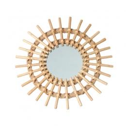 Rattan innowacyjnych sztuki dekoracji okrągłe kobiety lustro do makijażu z wikliny szkło dostawy do domu do siedzenia łazienka ś