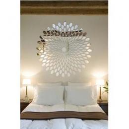 Twórczej sztuki geometryczne wzór płatek DecorTV ściana tła sypialnia korytarz dekoracje ścienne samoprzylepne lusterko akrylowe