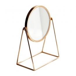 Nordic metalu dekoracyjne lustro Lady stołowe lusterko do makijażu rzemiosło miedzi trójwymiarowy księżniczka lustro akcesoria d