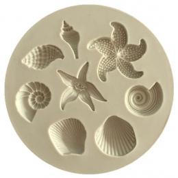 Narzędzie do dekoracji ciast narzędzia DIY stworzeń morskich muszla rozgwiazda powłoki ciasto kremówki cukierki formy silikonowe