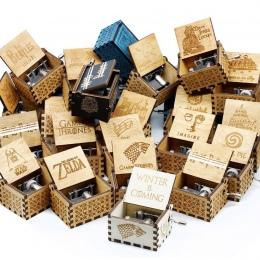 Sprzedaż hurtowa antyczne rzeźbione drewniane korba ręczna pozytywka prezent na Boże Narodzenie prezent urodzinowy Party trumny