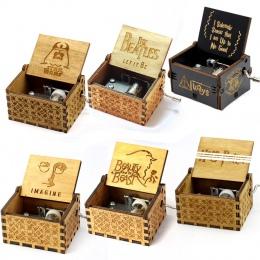 Kreatywny antyczne rzeźbione drewniane gry o tron music box, piękna i bestia prezent na Boże Narodzenie, prezent na nowy rok, pr