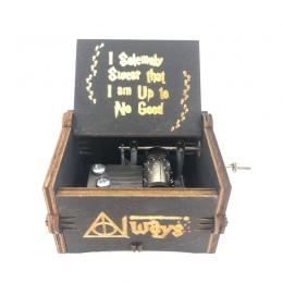 Drewniane korby ręczne harry Potter pudełko muzyczne temat drewniane pudełko muzyka