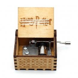 Ręcznie rzeźba w drewnie Music Box o harrym potterze rzeźba w drewnie Music Box