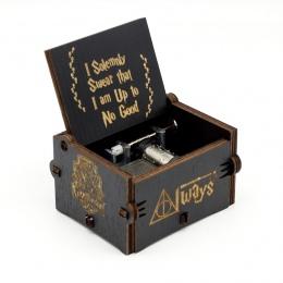Anonimowość antyczne rzeźbione drewniane korby ręczne Zelda pozytywka prezent na Boże Narodzenie prezent urodzinowy Party Supply