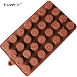 Facemile Emoji czekoladowe silikonowe formy na ciasto ciasteczka formy do pieczenia akcesoria kremówka cukierki silikonowe DIY f