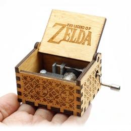 Antyczne rzeźbione ręcznie łukowaty drewna pozytywka The Legend Of Zelda zamek na niebie pozwól, by Le iść urodziny prezent na B