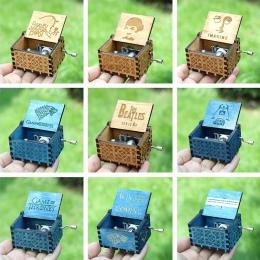 Walentynki prezent antyczne rzeźbione drewniane Music Box gra o tron ręczne muzyczne pudełka star wars Caja de musica
