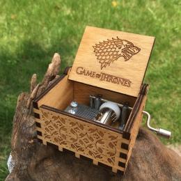 2019 HOT Juego De Tronos Gra o tron s Music Box prezent urodzinowy antyczne rzeźbione drewniane z korbą ręczną pojemniki Gra o t