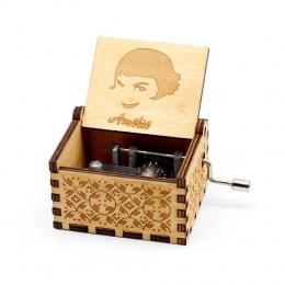 Sprzedaż hurtowa antyczne rzeźbione drewniane korby ręczne wesołych świąt bożego narodzenia prezent urodzinowy Music Box Gra o t