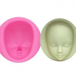 M929 DIY dziewczyna twarz formy silikonowe formy kremówka ciasto dekorowanie narzędzia kobieta maska Gumpaste Mold modeliny żywi
