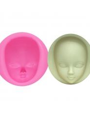 Silikonowa forma do ciast w kształcie głowy lalki odporna na temperatury bezpieczna dla żywności do mrożenia