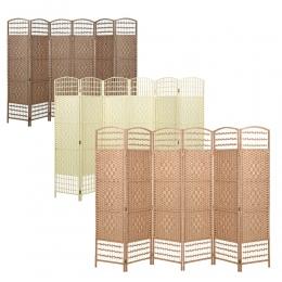 Panana klasyczny składany parawany do pokoju ekran partycji 4/6 Panel partycji krótkie z wikliny wycięcie kurtyny dekoracji domu