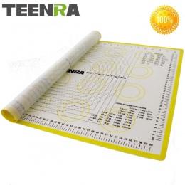 TEENRA 1 sztuk 66*46 cm Non Stick podkładka do wałkowania ciasta silikonowe maty do pieczenia i wkładki piekarnik silikonowe mat