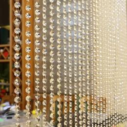 Kryształowy szklany koralik kurtyny luksusowy salon sypialnia okna drzwi dekoracje ślubne