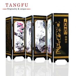 ShaoFu pulpit ozdoby chińskie sztuki rzemiosła lakier Mini składany ekran wykonane z drewna ekranów stołowych prezent do dekorac