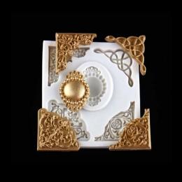 Europejskiej koronki tłoczone silikonowe formy DIY ciasto kremówki formy, kremówka mydło czekoladowe formy, dekoracyjne taca do