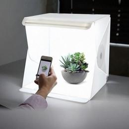 Mini składany ulubionych fotografia Studio Softbox LED światło miękkie pudełko aparatu fotograficznego tle pudełko oświetlenie z