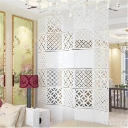 4 sztuk nowoczesne proste salon wiszące składany ekran Hollow biały jadalnia partycji kurtyna wejściowa Biombo