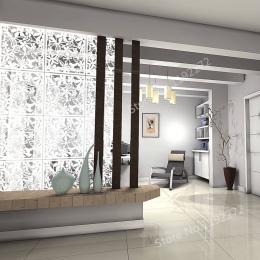 WSHYUFEI 12 sztuk biały wiszące pokoju dzielnik wykonany z przyjaznego dla środowiska pcv, ścianki działowe panele ekranu do dek